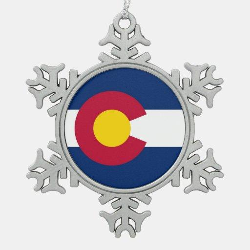 Snowflake Ornament with Colorado Flag
