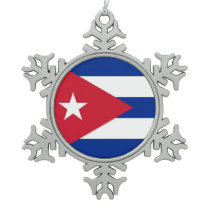 Snowflake Ornament with Cuba Flag