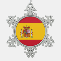 Snowflake Ornament With Spain Flag at Zazzle