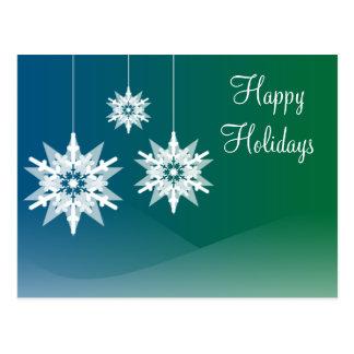 Snowflake Ornaments Christmas Holiday Postcards
