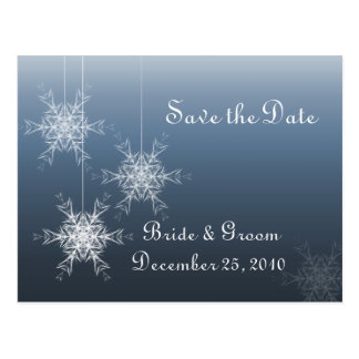 Snowflake Ornaments Postcard - Save the Date