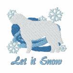 Snowflake Otterhound Embroidered Zipper Hoodie