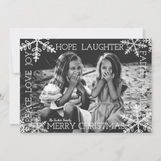 Snowflake Overlay Christmas Full Photo Card