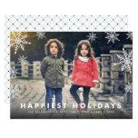 Snowflake Overlay   Holiday Photo Card
