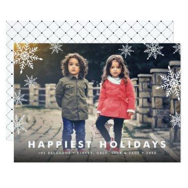 Christmas Themed Snowflake Overlay | Holiday Photo Card
