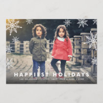 Snowflake Overlay | Holiday Photo Card