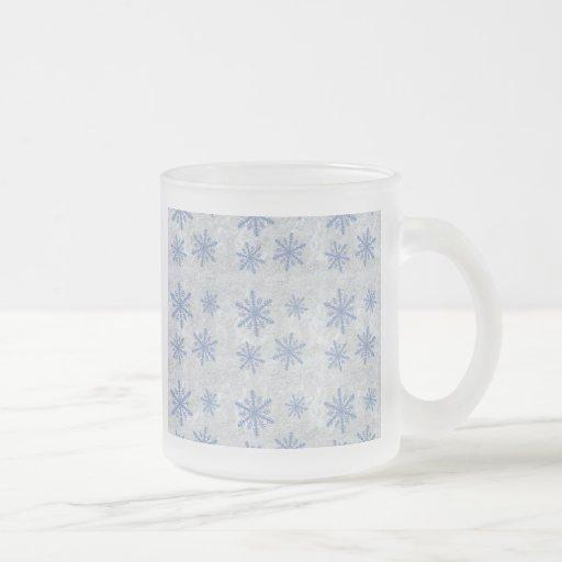 Snowflake Paper 1 - Original Blue & White Coffee Mugs