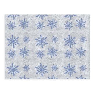 Snowflake Paper 1 - Original Blue & White Postcard
