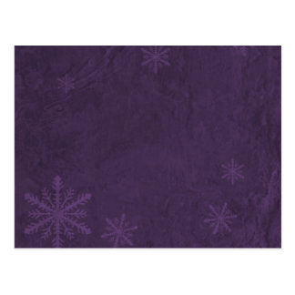 Snowflake Paper 4 - Dark Purple Postcard