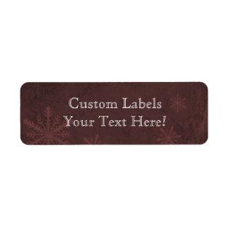 Snowflake Paper 4 - Dark Red Custom Labels