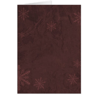 Snowflake Paper 4 - Original Dark Red Card