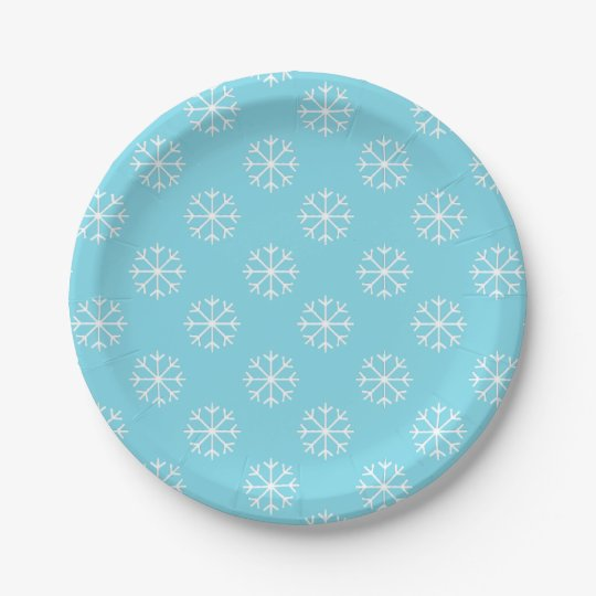 Snowflake paper plates | Christmas party supplies  sc 1 st  Zazzle : snowflake paper plate - Pezcame.Com