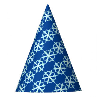snowflake party hat blue