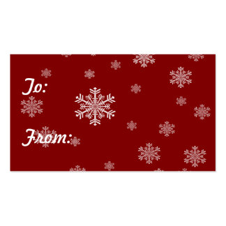 Snowflake Pattern 1 - Holiday Gift Tags Business Card