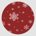 Snowflake Pattern 1 - Red/White Stickers