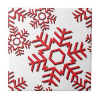 Snowflake Pattern 6-2a Ceramic Tiles