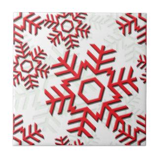 Snowflake Pattern 6-2b Ceramic Tiles