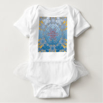 snowflake pattern baby bodysuit