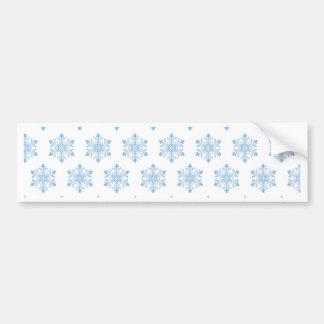 Snowflake Pattern Background Bumper Sticker