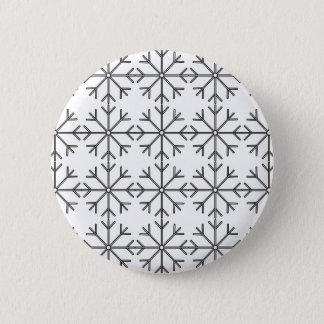 Snowflake  pattern - black and white. button