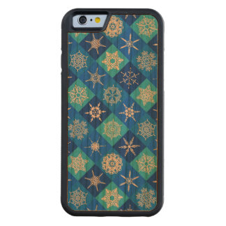 SNOWFLAKE PATTERN ~ CARVED® CHERRY iPhone 6 BUMPER