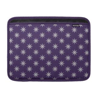 Snowflake pattern custom 13 MacBook sleeve