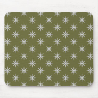Snowflake pattern custom mousepad