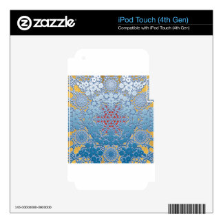 snowflake pattern decal for iPod touch 4G