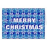 Snowflake Pattern Design Greeting Cards