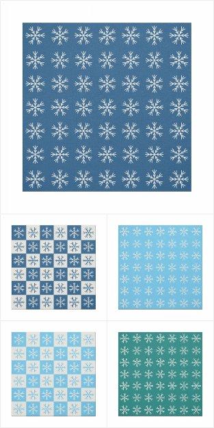 Snowflake Pattern Holiday Fabric