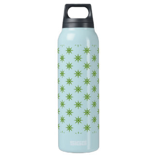 Snowflake pattern insulated water bottle