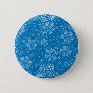 Snowflake pattern pinback button