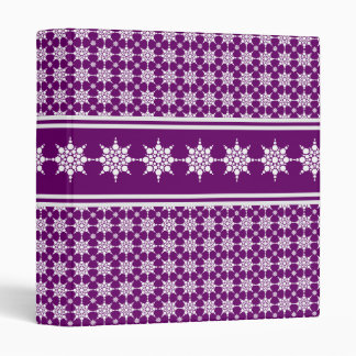 Snowflake Pattern Purple Binder