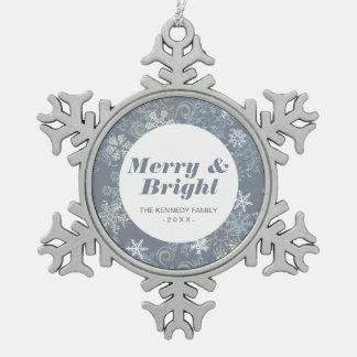 Snowflake Pattern Snowflake Pewter Christmas Ornament