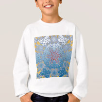 snowflake pattern sweatshirt