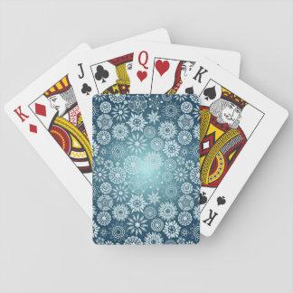 Snowflake Patterns Playing Cards