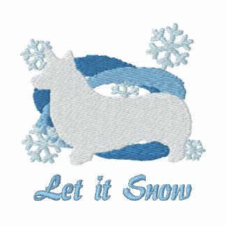 Snowflake Pembroke Welsh Corgi Embroidered Sweatshirt