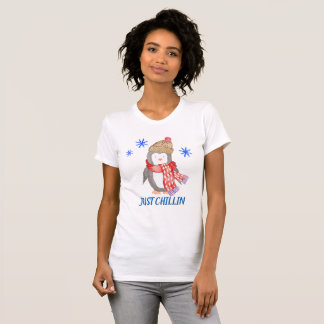 "Snowflake Penguin ""JUST CHILLIN"" T-Shirt"