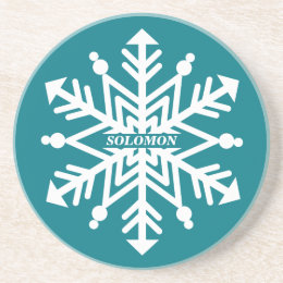 Snowflake Personalized With Your Name Coaster