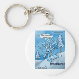 Snowflake Philosophers Funny Gifts Tees Cards Etc Basic Round Button Keychain