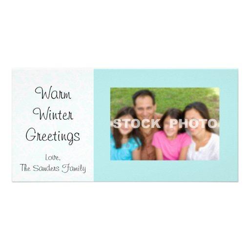Snowflake Photo Card Blue