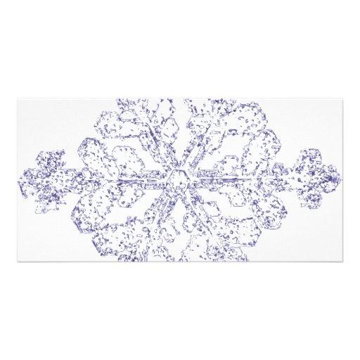 Snowflake Photo Card Template