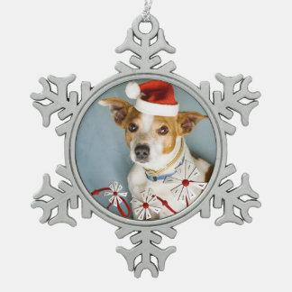 Snowflake Photo Christmas Snowflake Pewter Christmas Ornament