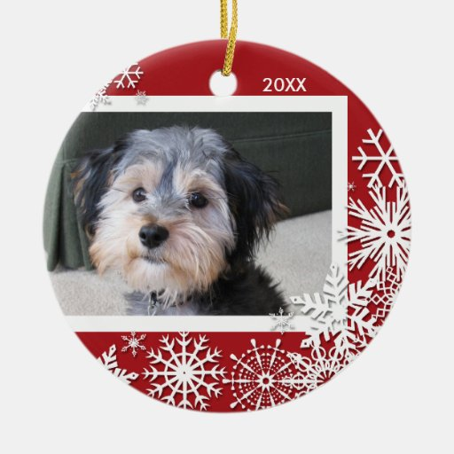 Snowflake Photo Frame For Christmas Ornament