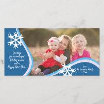 Snowflake Photo Greeting Holiday Card