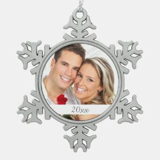Snowflake Photo Holiday Ornament