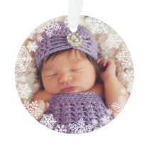Snowflake Photo Ornament   Baby's First Christmas