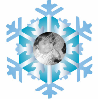 Snowflake Photo Personalized Christmas Ornament