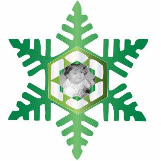 Snowflake Photo Personalized Christmas Ornament