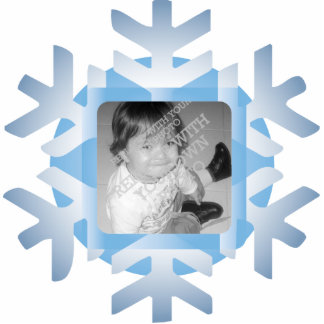 Snowflake Photo Personalized Christmas Ornament Acrylic Cut Outs